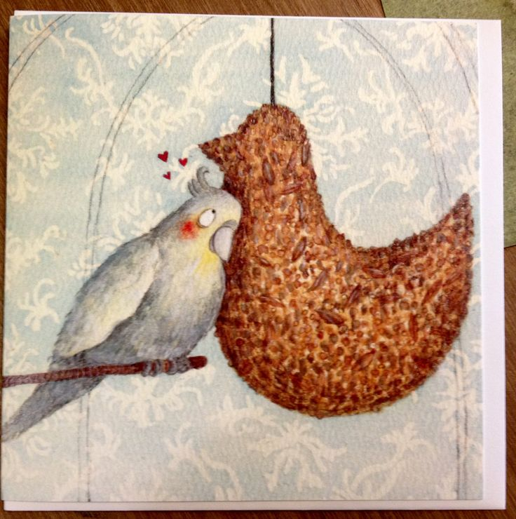 Gift Card - I love you seed bird from Blue Island press