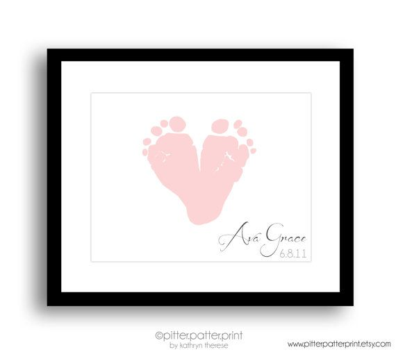 Personalized First Mother's Day Gift for New by PitterPatterPrint