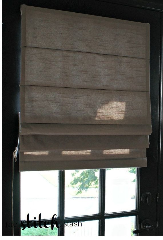 Custom Made Traditional Roman Shade - You Choose Fabric and Lining $65, you supply fabric and lining