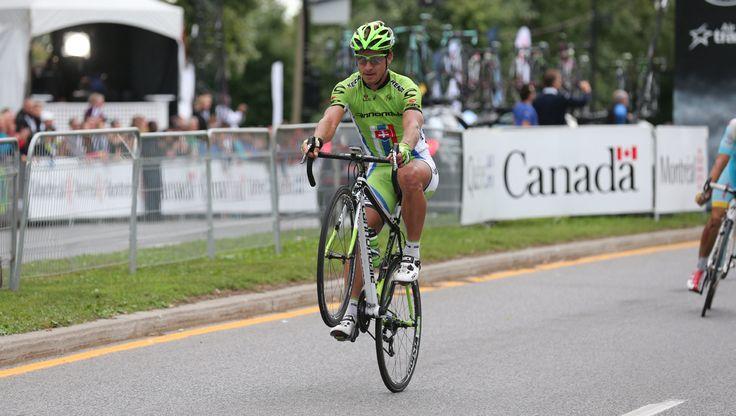 Peter Sagan's wheelie after winning Grand Prix Cycliste Montréal 2013