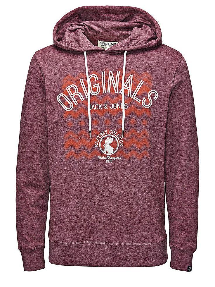ORIGINALS by JACK & JONES - Sweatshirt von ORIGINALS - Regular fit - Marken-Aufdruck auf der Vorderseite - Bündchen und Saum sind gerippt - Innenseite mit Brush-Effekt - Das Modell trägt Größe L und ist 187 cm groß 60% Baumwolle, 40% Polyester...