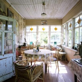 Russian timber dacha with original 1950s furniture and no running water