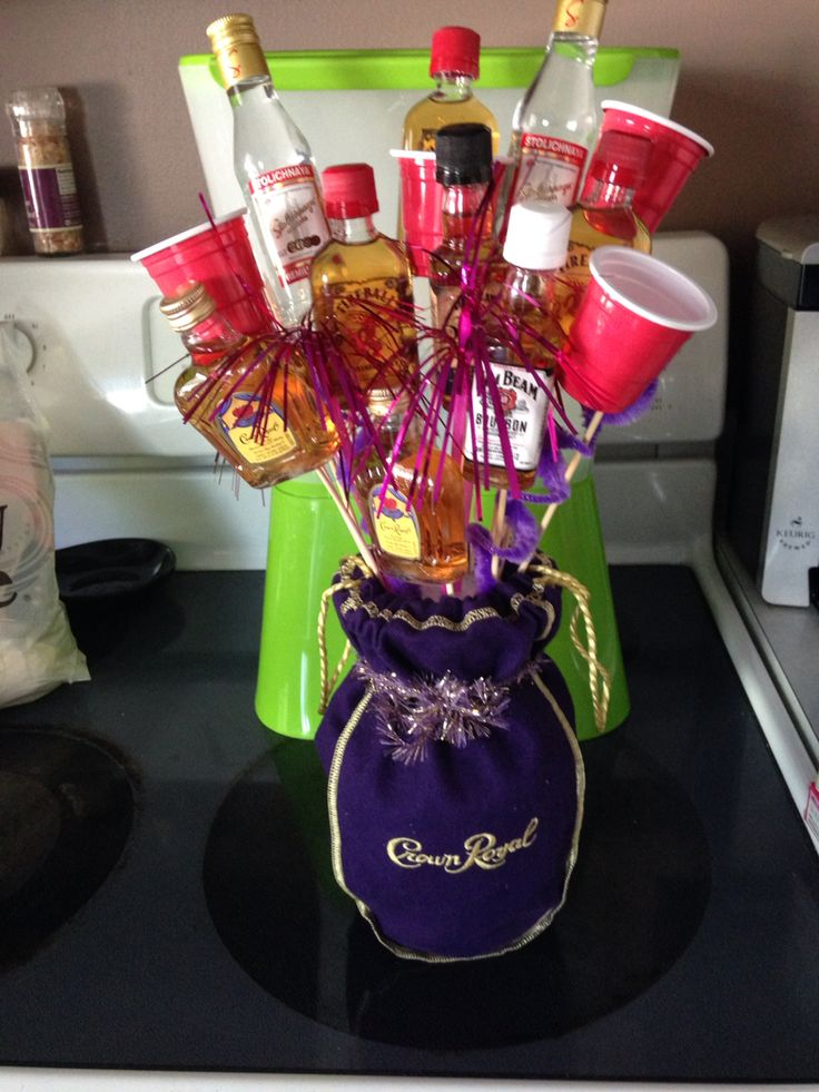 Mini liquor boquet