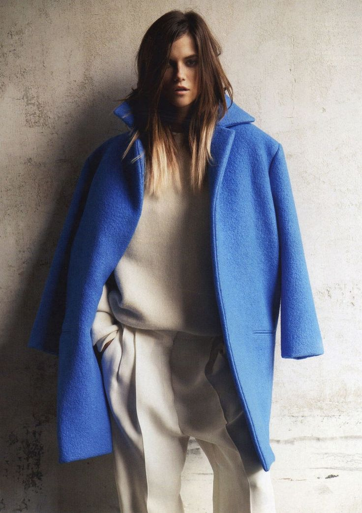 masculinityVoguerussia, Fashion, Style, Vogue Russia, Cobalt Blue, Blue Coats, Electric Blue, September, Kasia Struss