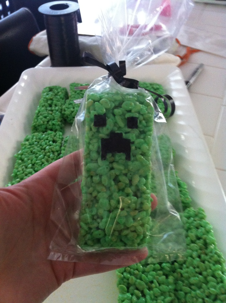 Rice Krispy Creepers - thinking I need these for a birthday party ;-)