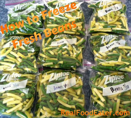Learn how to freeze fresh beans - colorful, tasty and convenient!