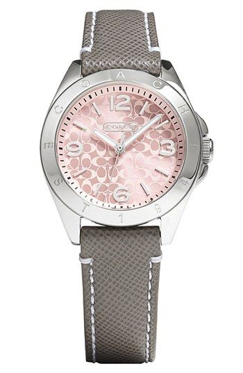 COACH 'Tristen' Saffiano Leather Strap Watch, 32mm available at #Nordstrom