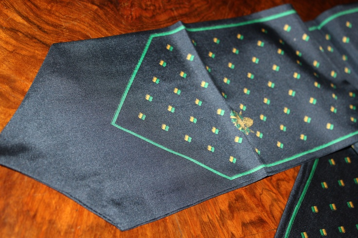 Very particular shaped silk scarf. 60s