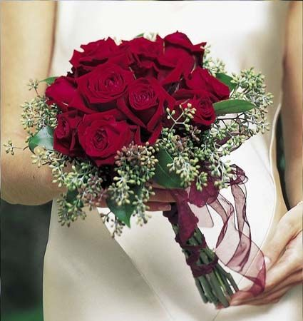 Find This Pin And More On Ohmagarsh By Lisa4real Simple Red Rose Wedding Bouquet