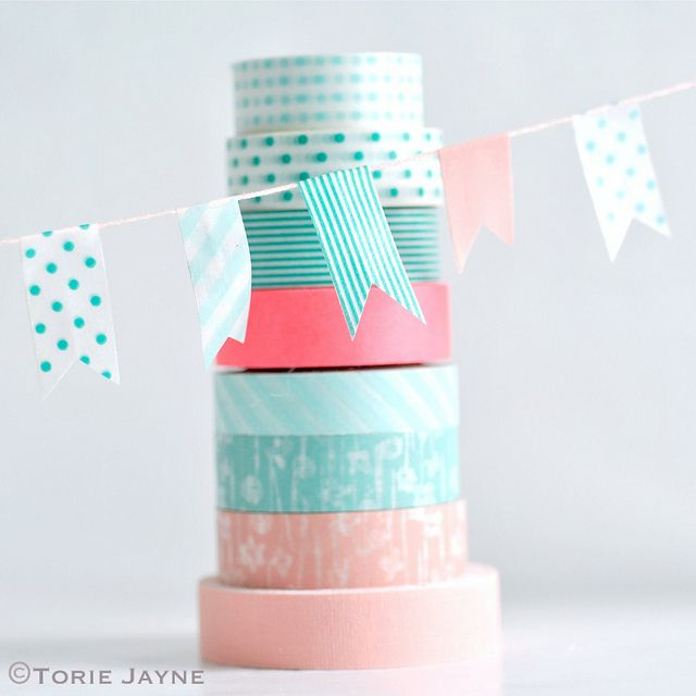 washi tape bunting 25 Fresh New Ways To Use Washi Tape