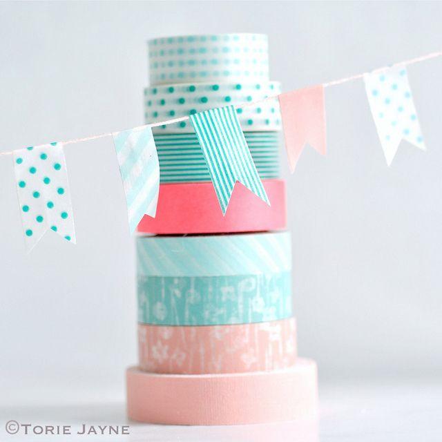washi tape bunting
