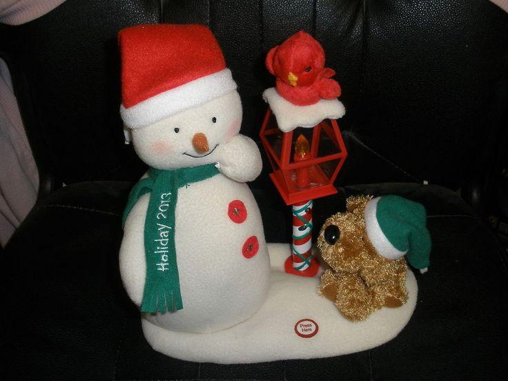 swinging singing snowman