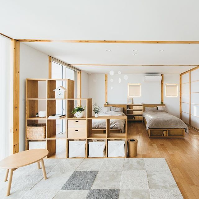 Two Beds Natural Wood Light Maybe Kids More Japan InteriorJapanese