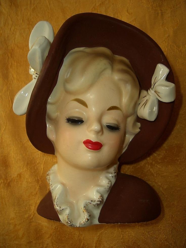 Vintage Lady Head Vases 38