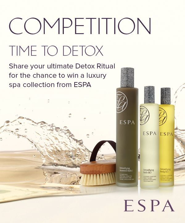 What helps you start the New Year afresh? To enter, create a Pinterest board, title it 'ESPA Detox Ritual' and fill it with all your favourite detox ritual items – one to be an ESPA product. In each pin's caption include the hashtags #ESPA and #detox, then  share your board with us by posting a comment in the original contest announcement pin, with a link to your board. We will choose our favourite to win a luxury ESPA collection and announce the winner on our blog.
