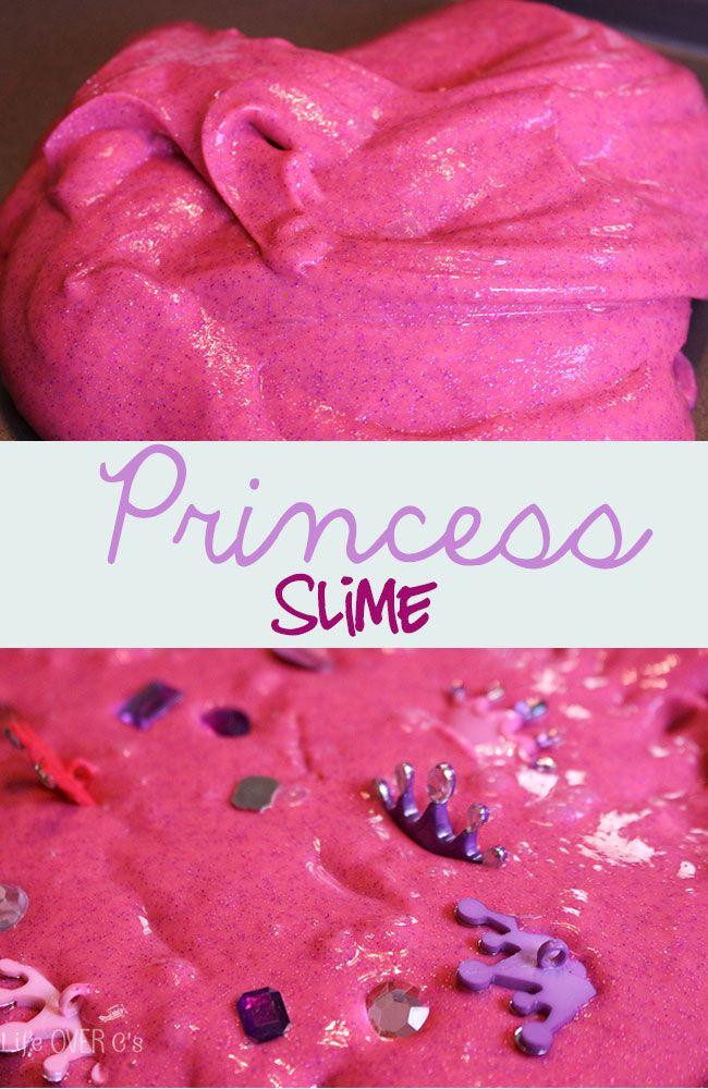 Princess slime!! A fun sensory experience!