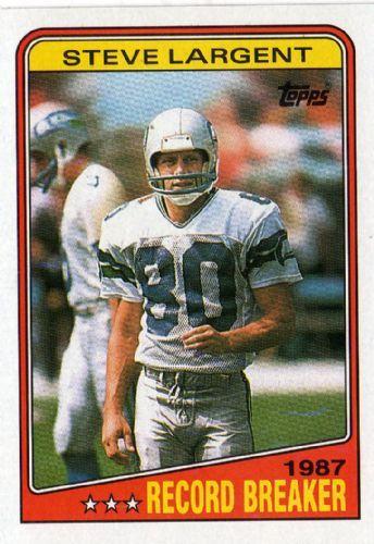 steve largent football card | ... SEAHAWKS - Steve Largent #3 TOPPS NFL 1988 American Football Card