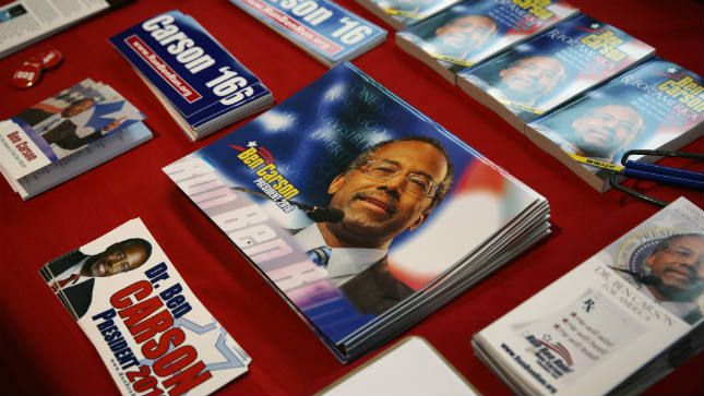 Carson wins early GOP straw poll - Provided by The Hill I this great or what.
