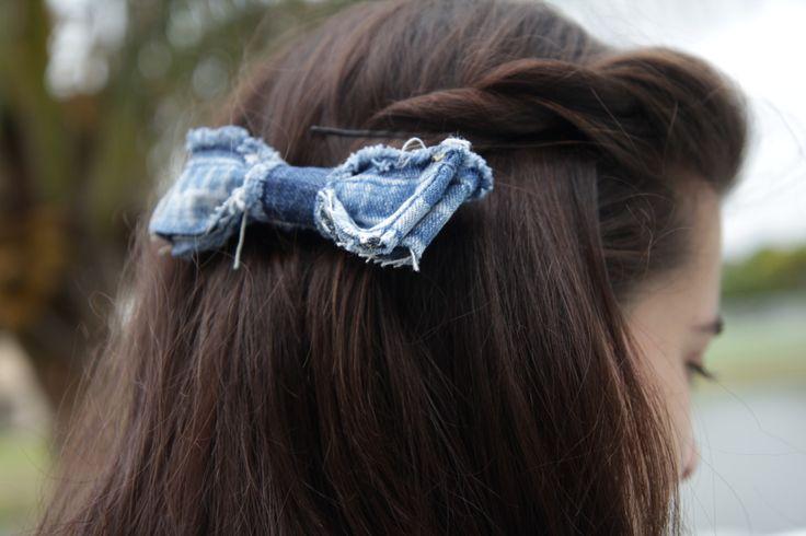 homemade denim bows