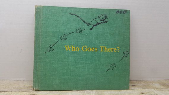 Who Goes there 1967Dorothy Lathrup vintage by RandomGoodsBookRoom