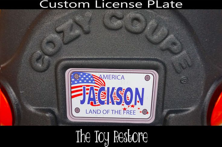 Replacement Decals fits Little Tikes Cozy Coupe #America #USA Custom Number Plate #TheToyRestore #LittleTikes #CozyCoupe #LicensePlate #NumberPlate #Vanity #CozyCoupeRedo #CozyCoupeMod #CozyCoupeMakeover