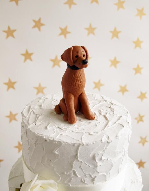 Red Retriever Dog Cake Topper Dog Wedding Topper Retriever
