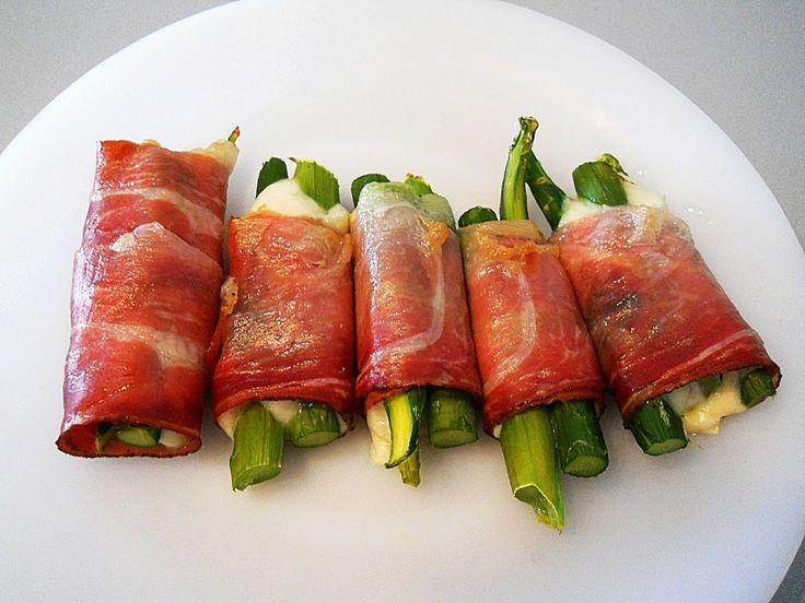 Asparagus speck fontina rolls
