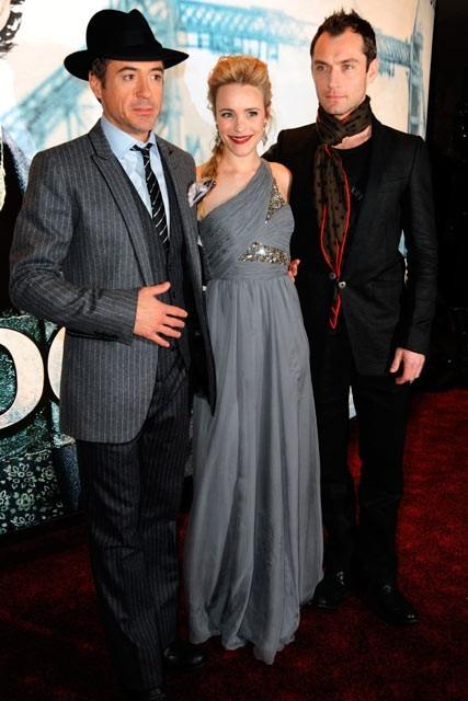 Robert Downey Jr., Rachel McAdams, & Jude Law