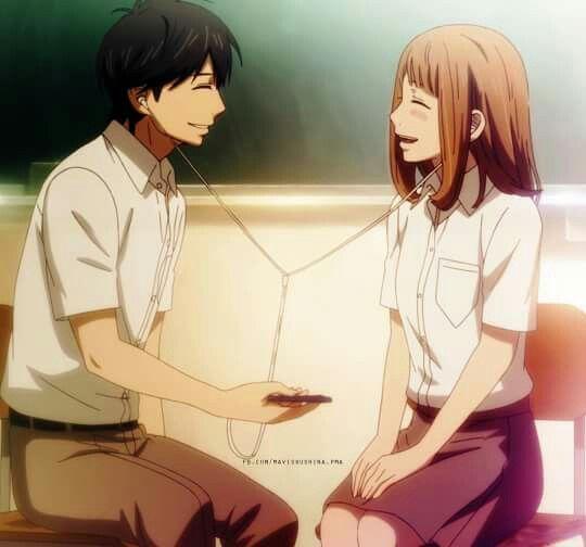 Kakeru & Naho ♡♡ (Orange Anime on Crunchyroll )