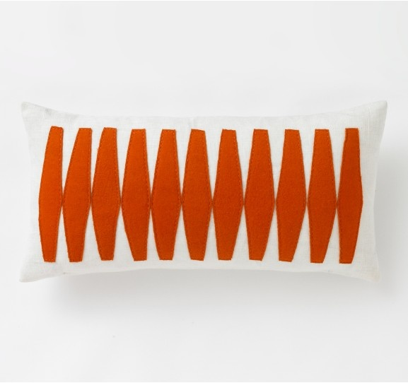Otto Tangerine Pillow: Otto Pillows, Tangerine Pillows, Living Room, Eight In Amber, Pillows 12X24, Throw Pillows, Decor Pillows, Dwellstudio Otto, Otto Tangerine