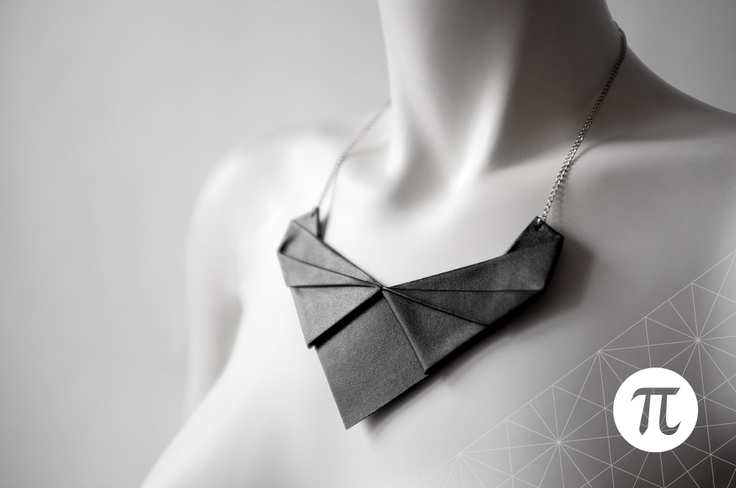 Handmade Origami Jewelry . Designed by Eleonora Colonna for SAY IT Clothing   http://www.sayit-clothing.com/onlinestore/en/10-jewelry