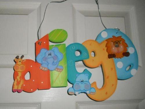 Nombres madera country imagui pintura country y madera - Ideas para decorar letras de madera ...