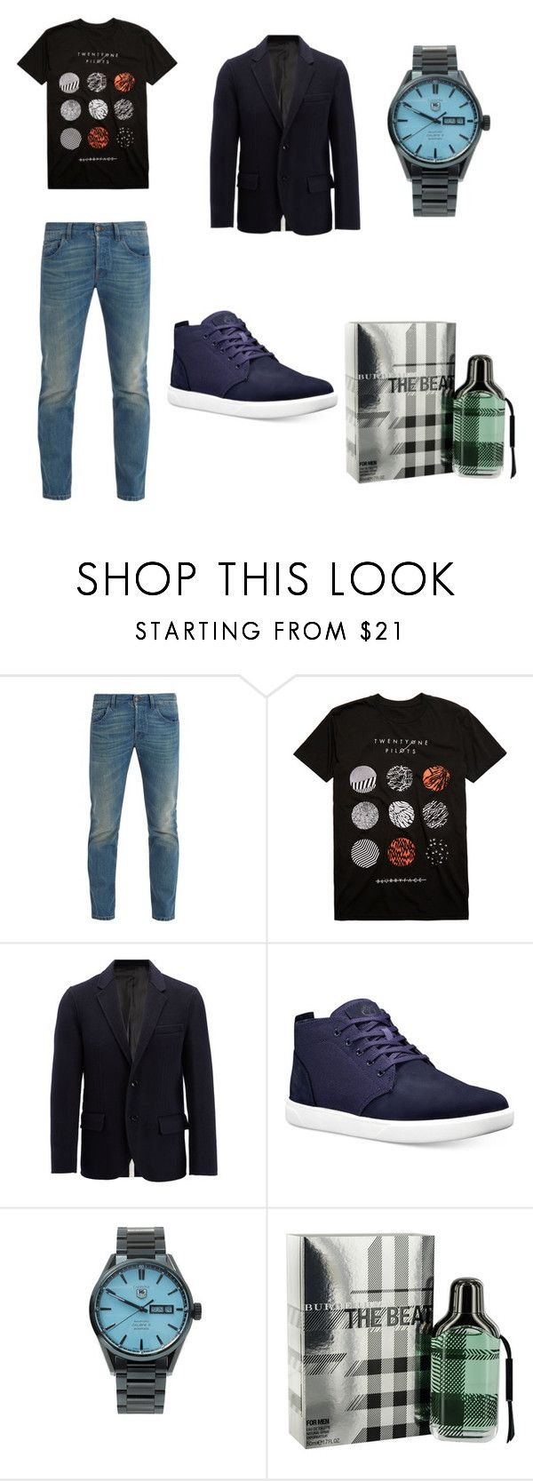 """Sem título #524"" by karen-moraes-baroni on Polyvore featuring Gucci, Hot Topic, Joseph, Timberland, Bamford Watch Department, Burberry, men's fashion e menswear"