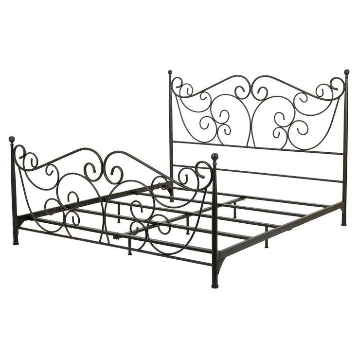 Lorelei Queen Metal Bed Frame - Dark Bronze - Christopher Knight Home