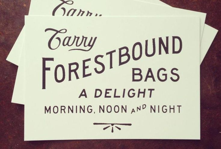 Carry Forestbound Bags: A delight morning, noon and night!