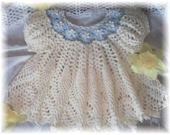 crochet pattern for a baby dress --- I bought this pattern and made this dress, and it turned out really beautifully (HF).