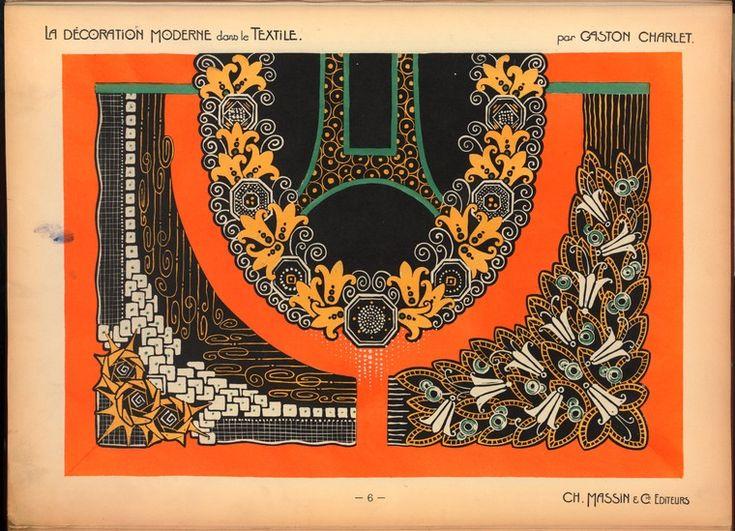 """.""""La décoration moderne dans le textile"""" Ch. Massin & ..."""