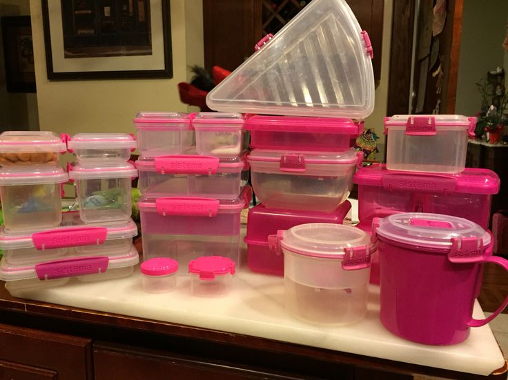Love my pink Sistema containers
