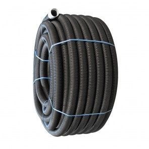 80mm x 100m Fully Perforated Land Drain Coil