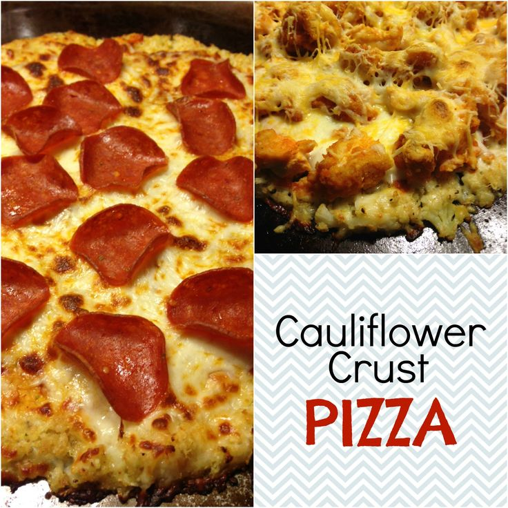Wouldn't it be nice to have a local pizza delivery that made this?! @Patrick Rodriguez Delish and so easy! Cauliflower Crust Pizza | The Striped Flamingo