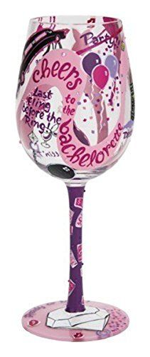 Lolita from Enesco Bachelorette Party Wine Glass, Multicolor