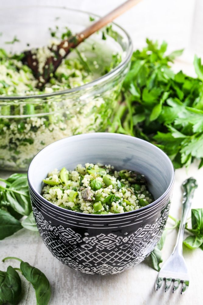 Herb-Flecked Spring Couscous / by Katie at the Kitchen Door