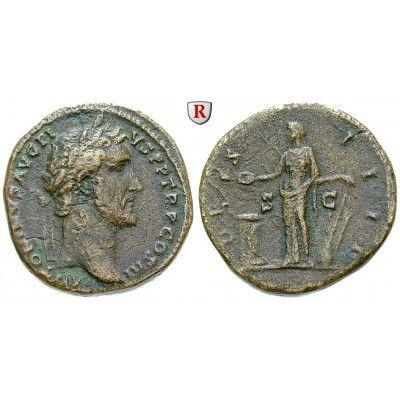 Römische Kaiserzeit, Antoninus Pius, Sesterz 144, ss: Antoninus Pius 138-161. Messing-Sesterz 32 mm 144 Rom. Kopf r. mit… #coins