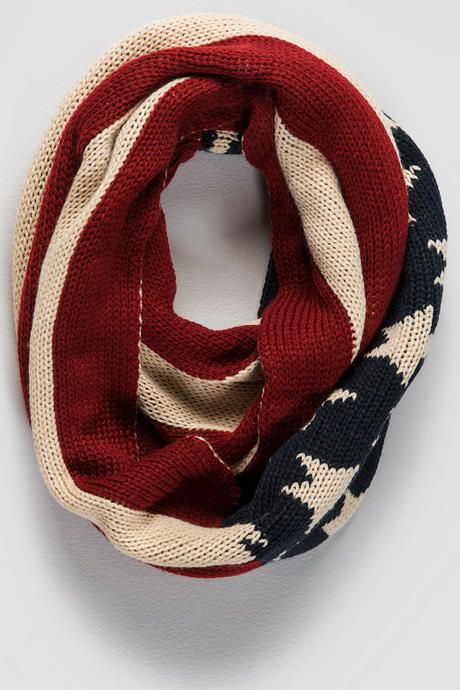 Stars & Stripes Loop Scarf