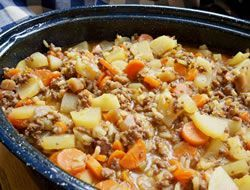 "Hamburger Potato Hotdish Recipe @Carman Mills this dish can't compare to our ""secret"" family recipe! ;)"