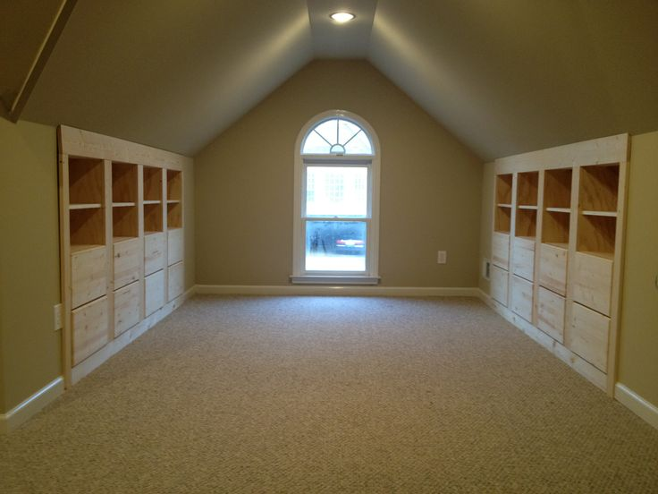 attic space- built in storage This looks just like how our space would be