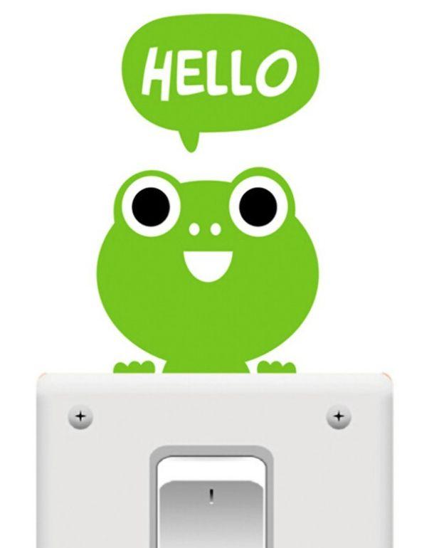 Light Switch Sticker - Green Frog
