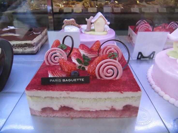 Strawberry Korean Cake - Paris Baguette