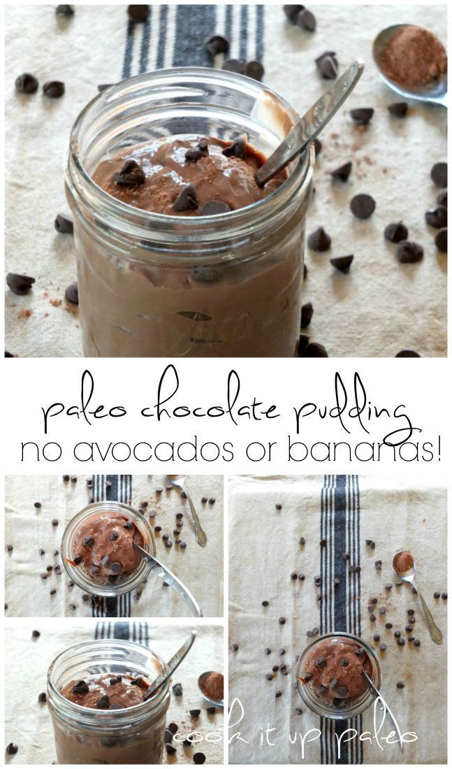 Decadent Paleo Chocolate Pudding (no avocados or bananas) | Cook It Up Paleo