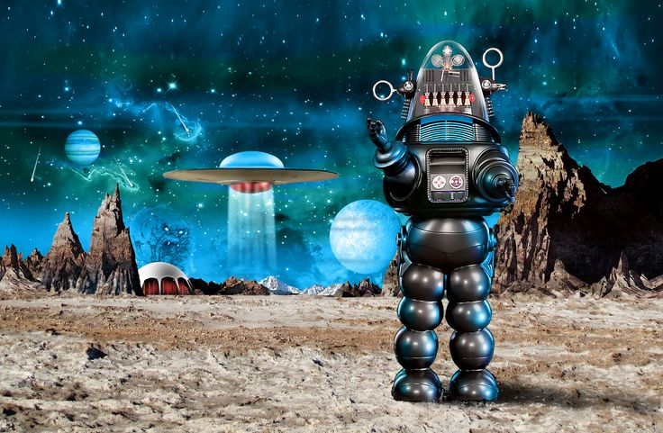 Robby the robot, created in Photoshop